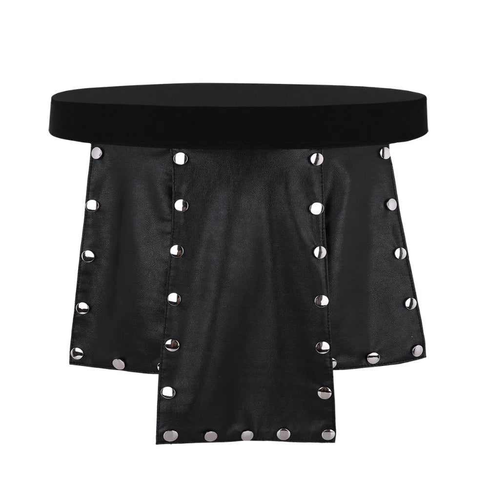 6 Panel Faux Leather Skirt