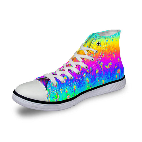 Rainbow High Top Canvas Sneakers