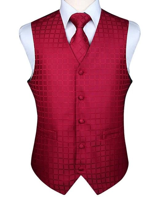 Silk Pocket Vest & Tie Set
