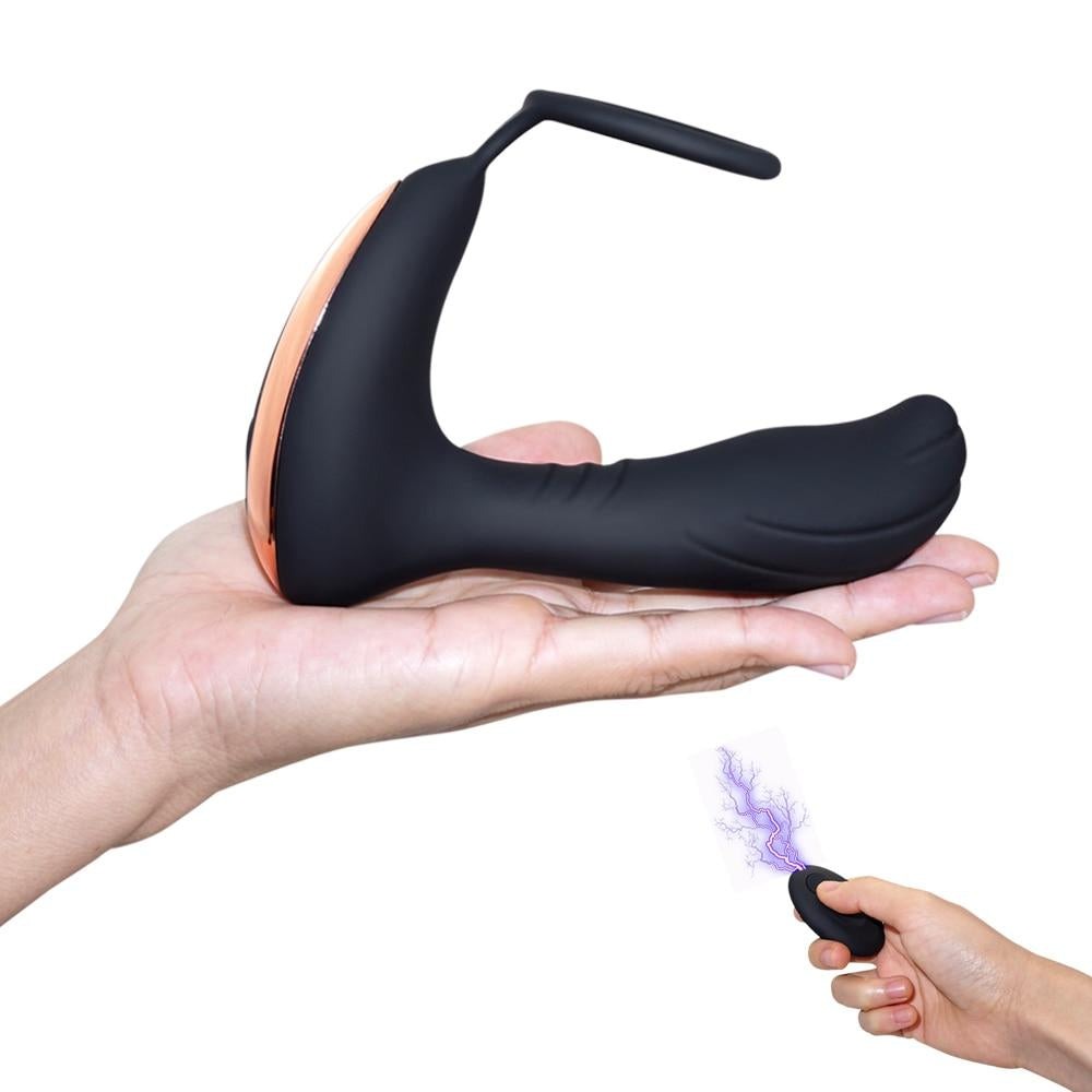 Remote Controlled Prostate Massager with Penis Ring