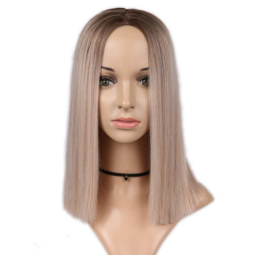 2 Tone Ombre Short Straight Wig
