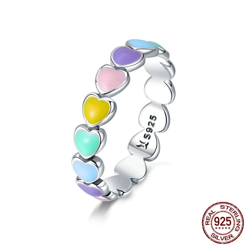 LGBT Pride Sterling Silver Rainbow Ring