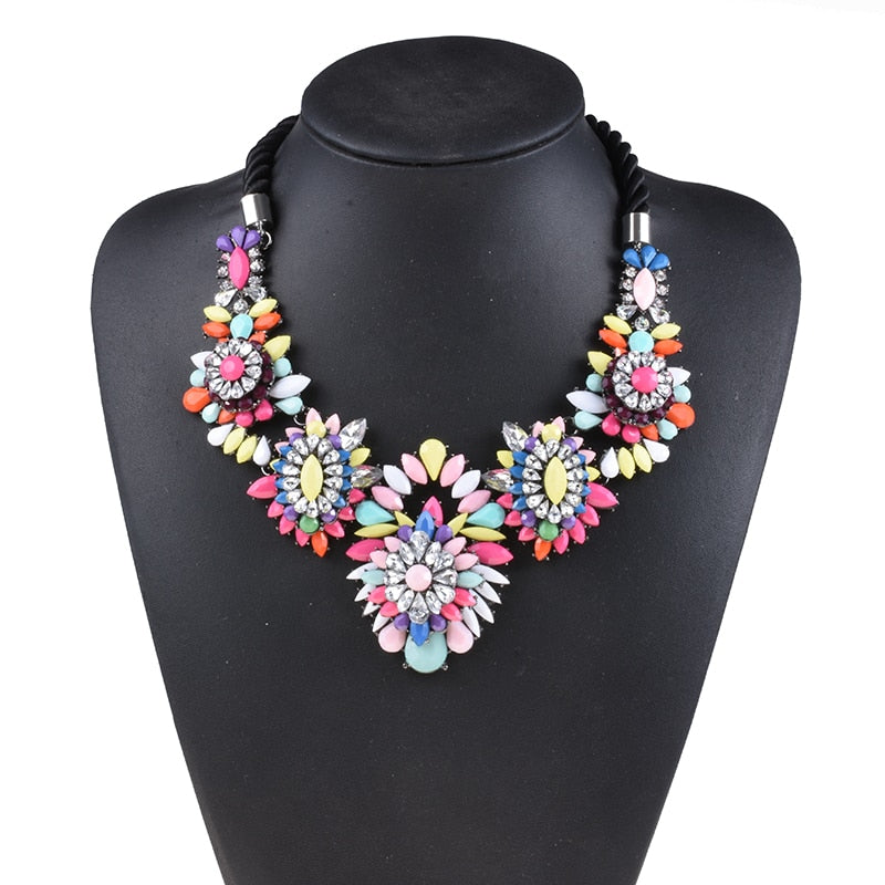Drag Queen Rainbow Flower Necklace