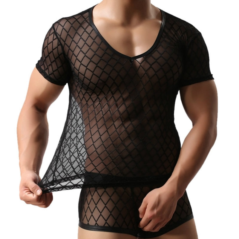 Fishnet Transparent Mesh T Shirt