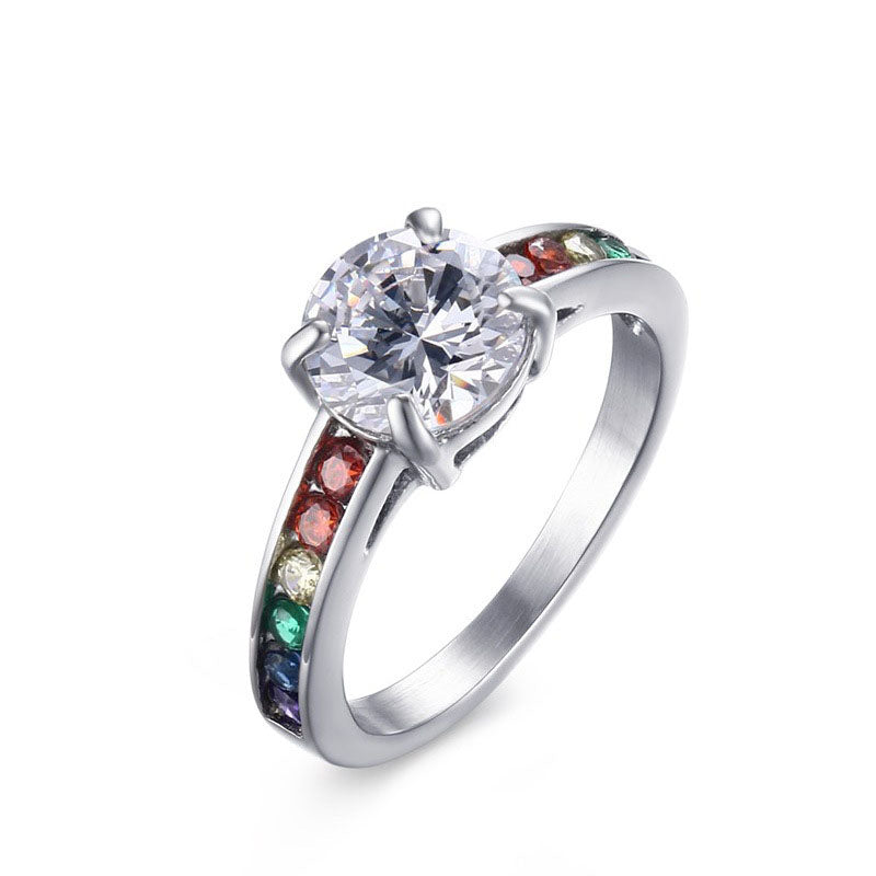 LGBT Pride Wedding Ring