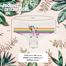 Load image into Gallery viewer, LGBT Gay Pride Rainbow Unicorn Briefs