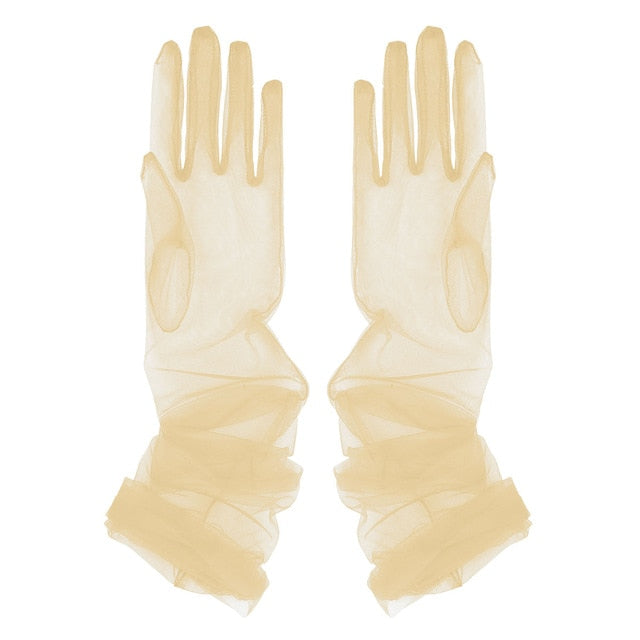Drag Queen Long Transparent Gloves