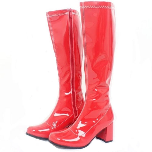 Square Heel Knee-High Boots