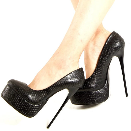 Stiletto Platform Pumps