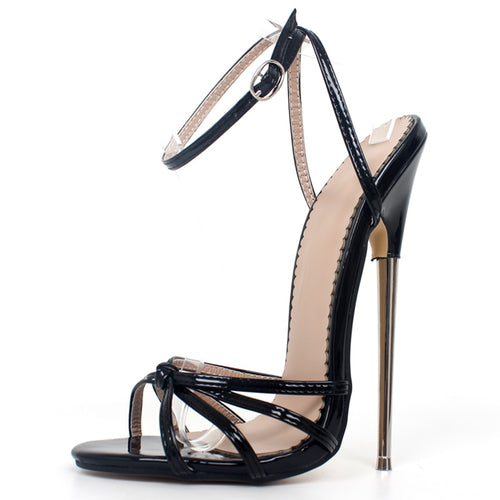 Ankle Strap Thin Heels Fetish Sandals