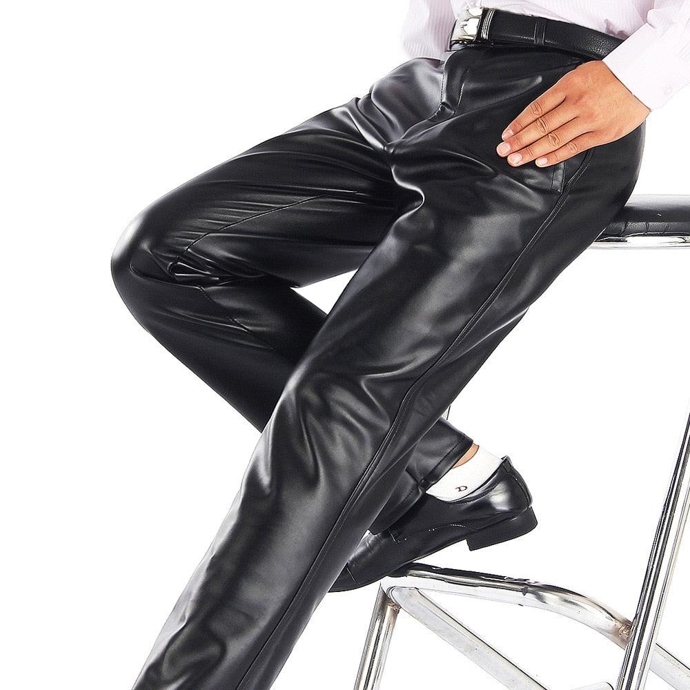 Lightweight Faux Leather Pants