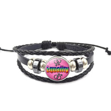 Load image into Gallery viewer, Gay Pride Rainbow Leather Bracelet