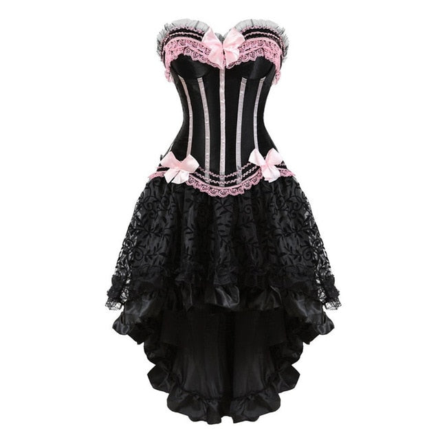Crossdress Corset & Skirt Set