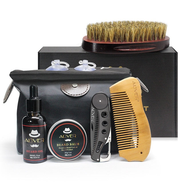 7pcs/set Men Beard Styling Kit