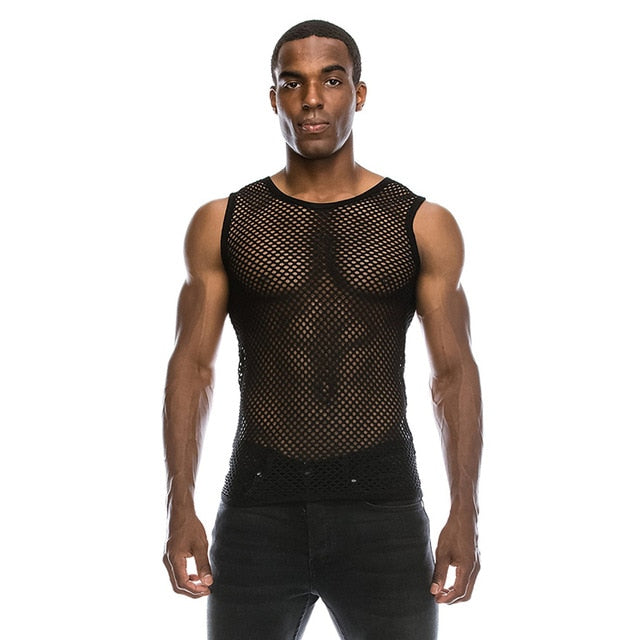 Transparent Mesh T Shirt