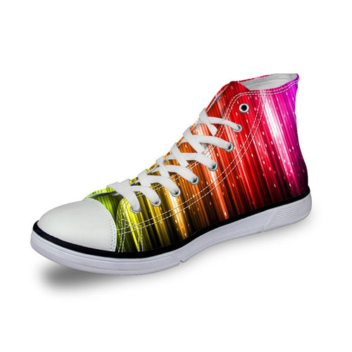 LGBT+ Rainbow Canvas High Top Sneakers