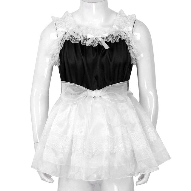 Adult Baby Tulle Dress with Waist Belt
