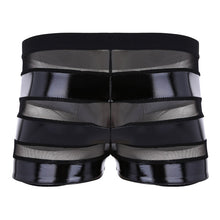 Load image into Gallery viewer, Faux Leather Mesh Boxer Shorts