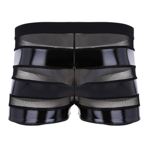 Faux Leather Mesh Boxer Shorts