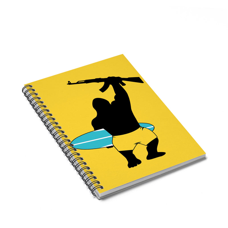 Accessory | Surfs Up Gorilla Logo | Spiral Notebook - Ruled Line