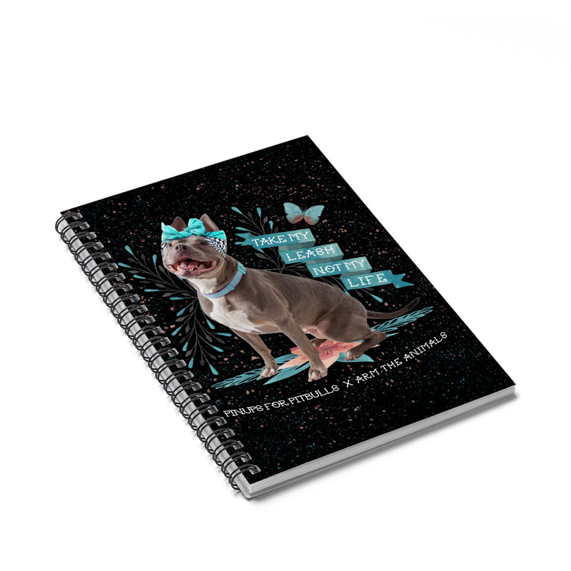 Accessory | Take My Leash, Not My Life | Spiral Notebook - Ruled Line