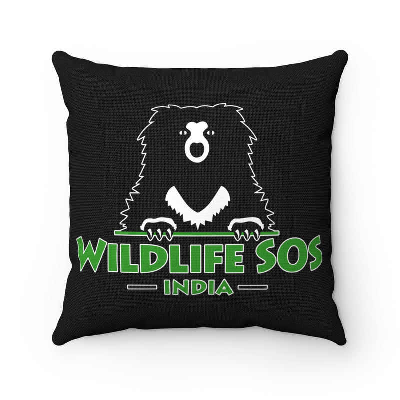 Accessory | Wildlife SOS Bear Logo | Square Pillow