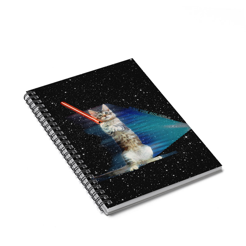 Accessory | Hologram Battle Cat | Spiral Notebook - Ruled Line