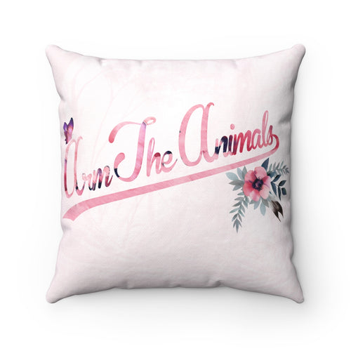 Home Goods | Fairy Script Logo | Square Pillow