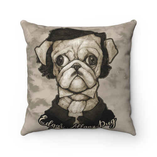 Accessory | Edgar Allen Pug | Square Pillow