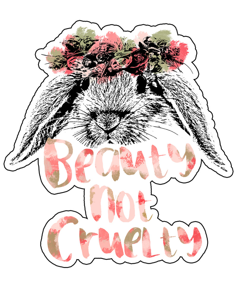 Stickers | Beauty Not Cruelty | Die Cut Sticker