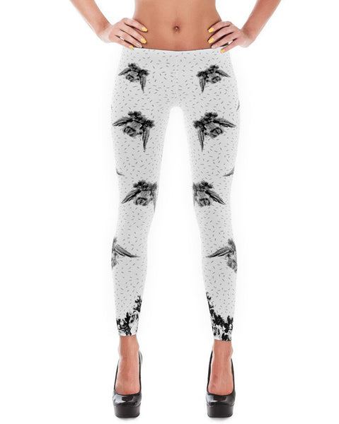 Women's |  Flower Crown Rabbit | Leggings