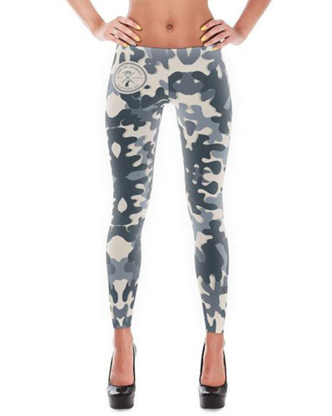 Women's | Ash Gray Camo | Leggings