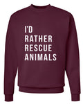 Men's | I'd Rather Rescue Animals | Crewneck Sweatshirt