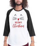 Men's | Meowy Christmas  | 3/4 Sleeve Raglan