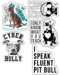 Stickers | Pit Bull Lovers | Die Cut Sticker Set (12)