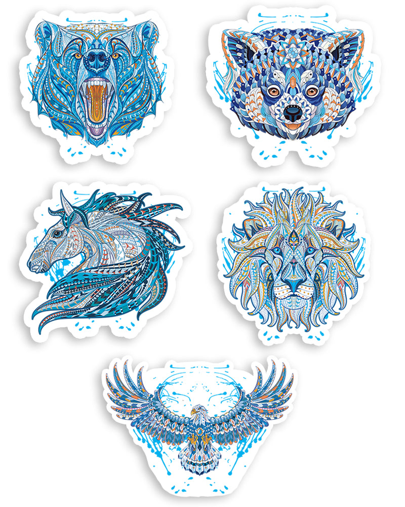 Stickers | Mandala Series | Die Cut Sticker Set (5)
