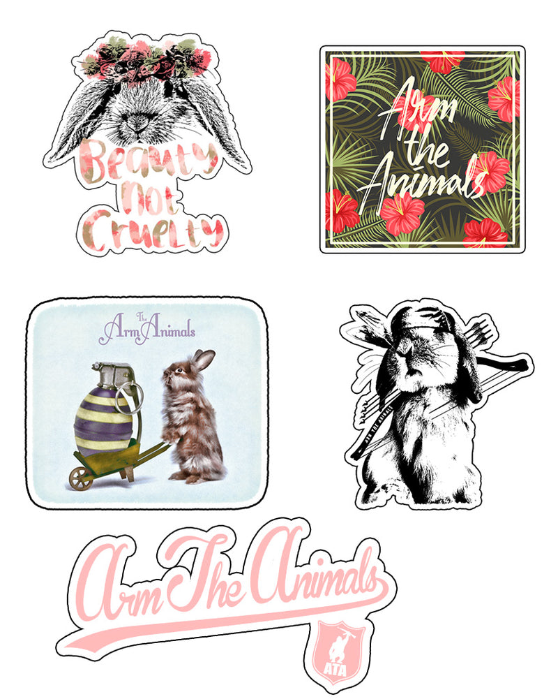 Stickers | Bunny Lovers | Die Cut Sticker Set (7)