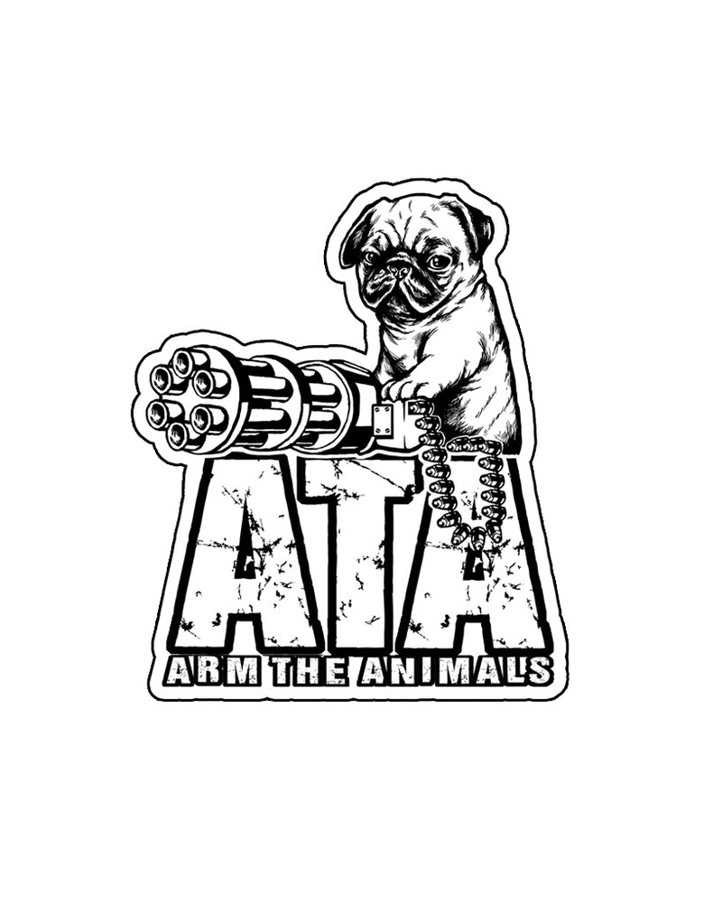 Stickers | Predator Pug | Die Cut Sticker