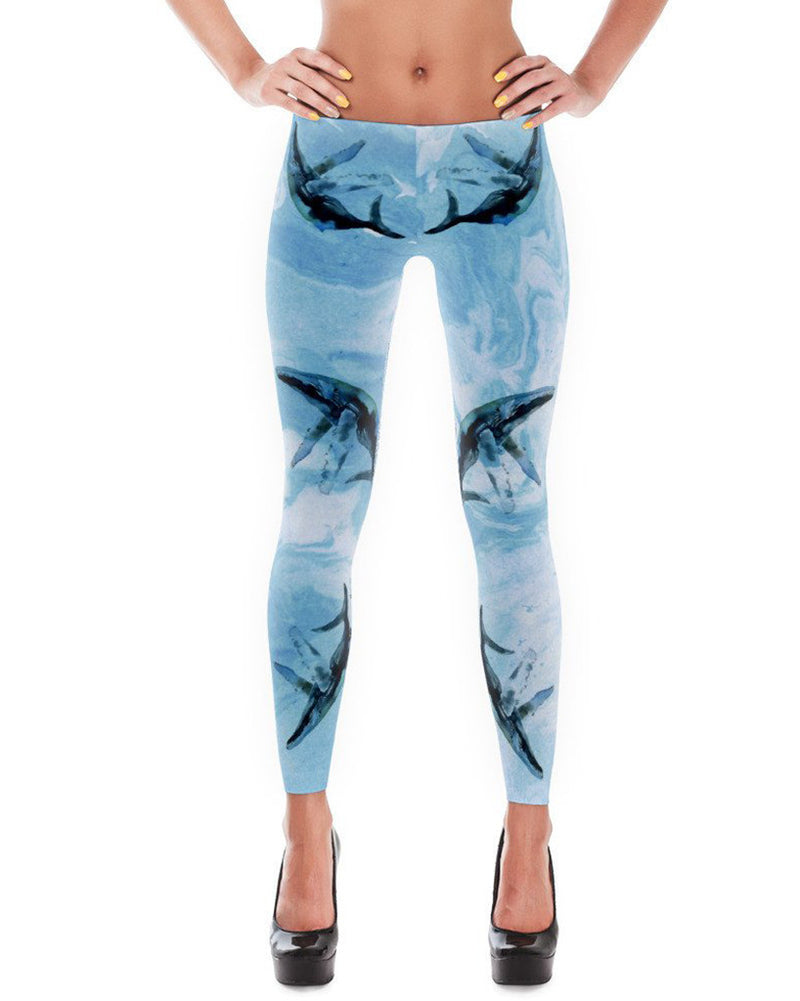 Women's | Splashing Whales | Leggings