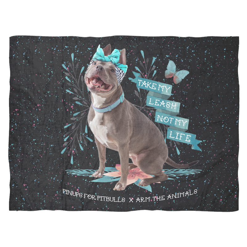 ACCESSORY | TAKE MY LEASH, NOT MY LIFE | FLEECE BLANKET