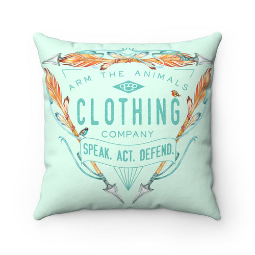 Home Goods | Birds & Arrows Logo | Square Pillow