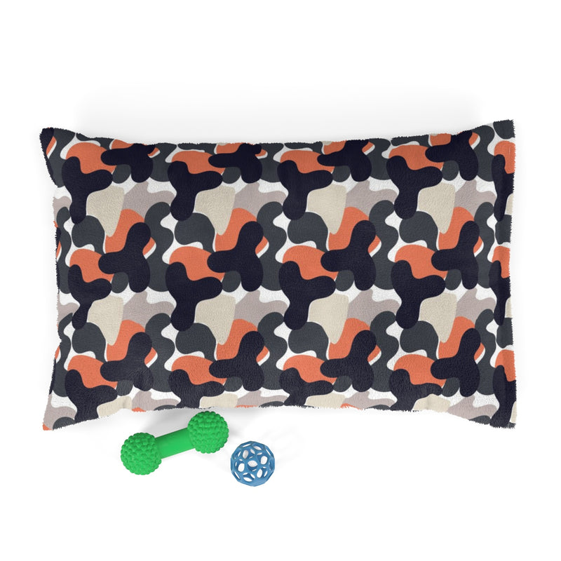 Pet | Orange & Tan Camo | Bed