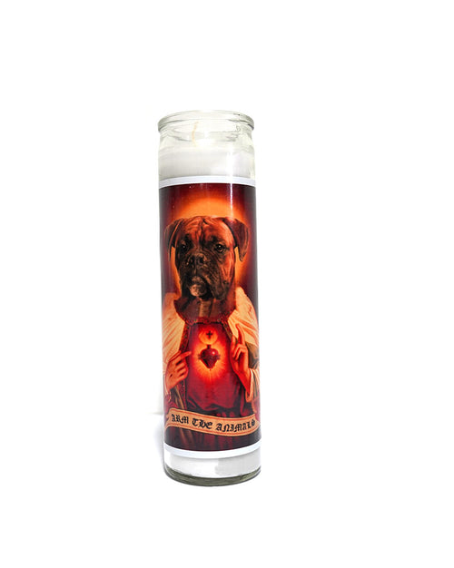 Home Goods | Holy Boxer | Devotional Candle