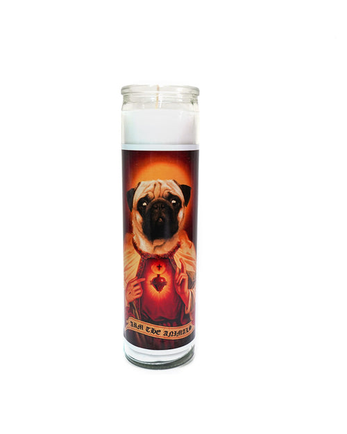Home Goods | Holy Pug | Devotional Candle