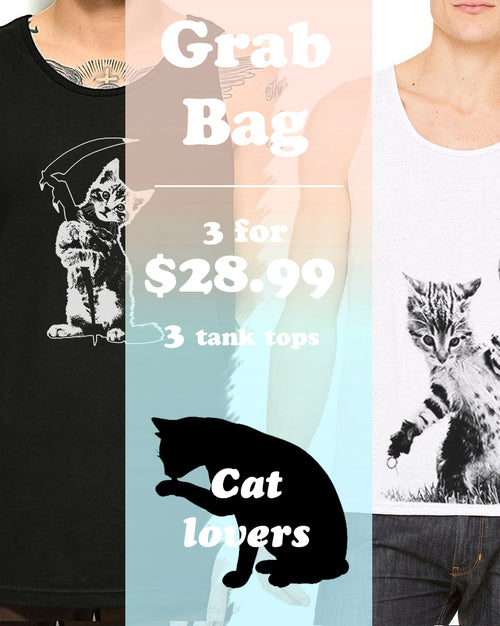 Men's | ATA Cat Tank Top | Grab Bag