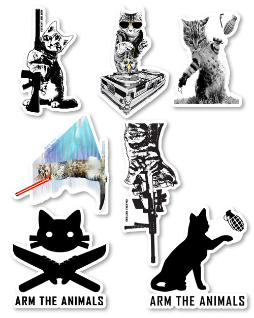 Stickers | Cat Lovers | Die Cut Sticker Set (12)