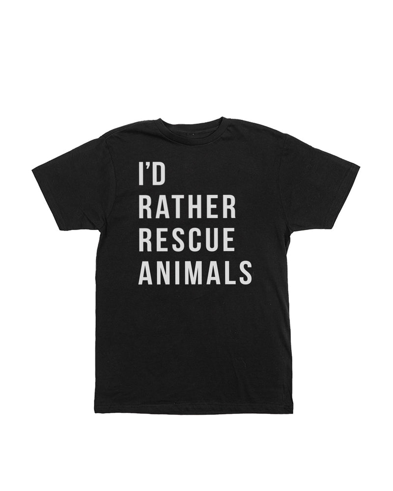 Men's | I'd Rather Rescue Animals | Crew