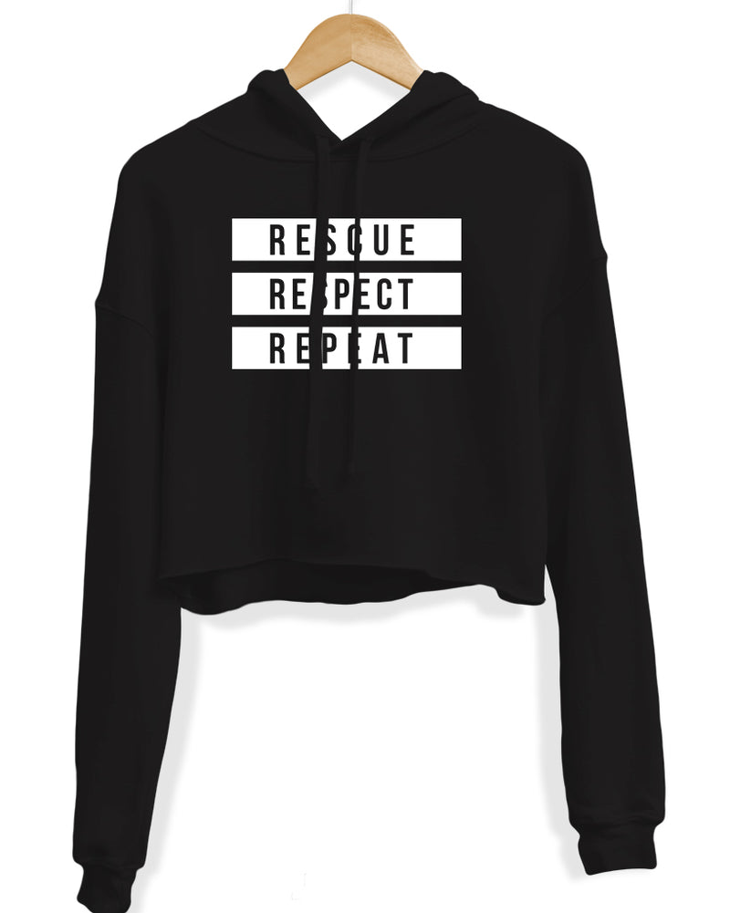 Women's | The 3R's | Crop Hoodie