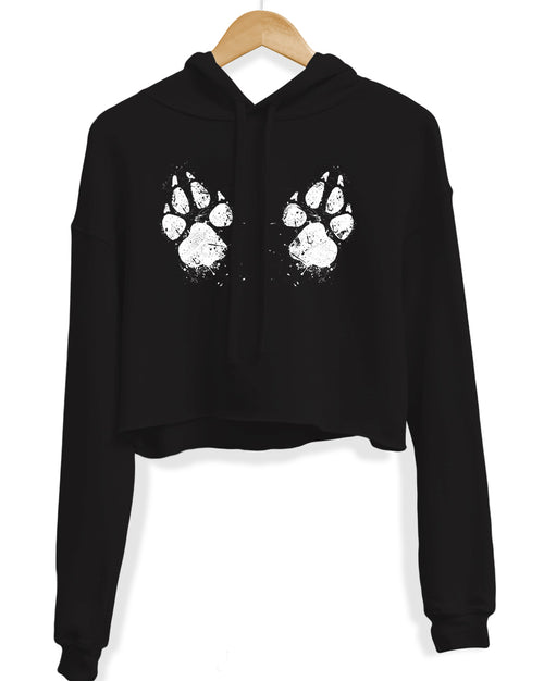 Women's | Paw-sive Aggressive | Crop Hoodie