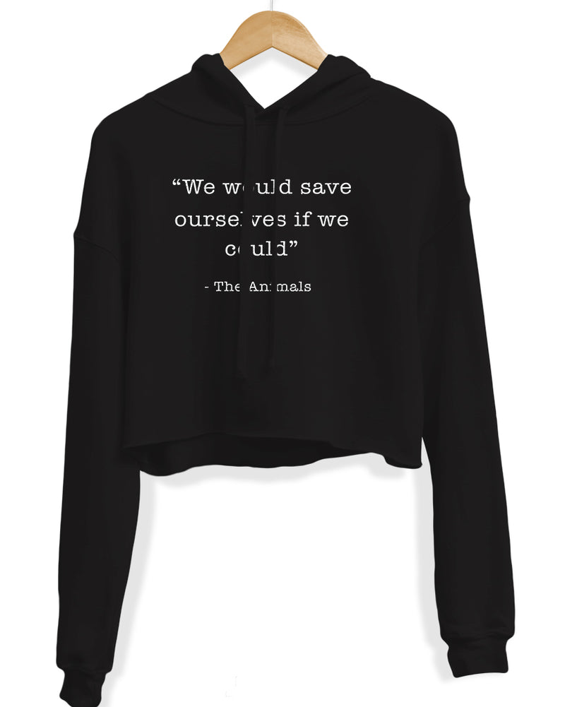 Women's | Save Ourselves | Crop Hoodie